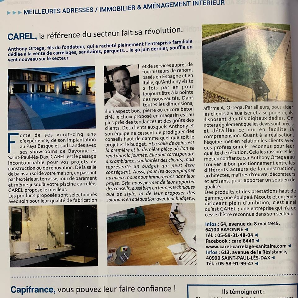 Carel dans le magazine Capital